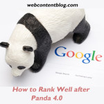 How to Rank Well after Panda 4.0
